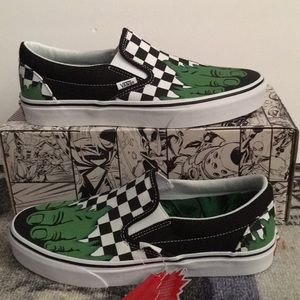 VANS x MARVEL Slip- On Incredible Hulk Shoes